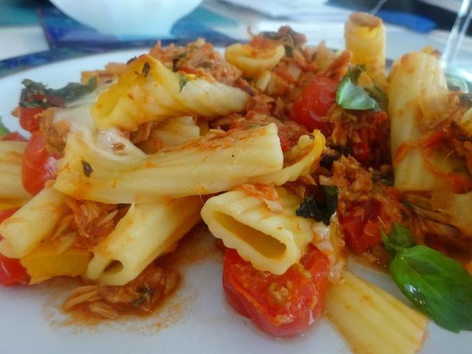 Italian style tuna pasta bake