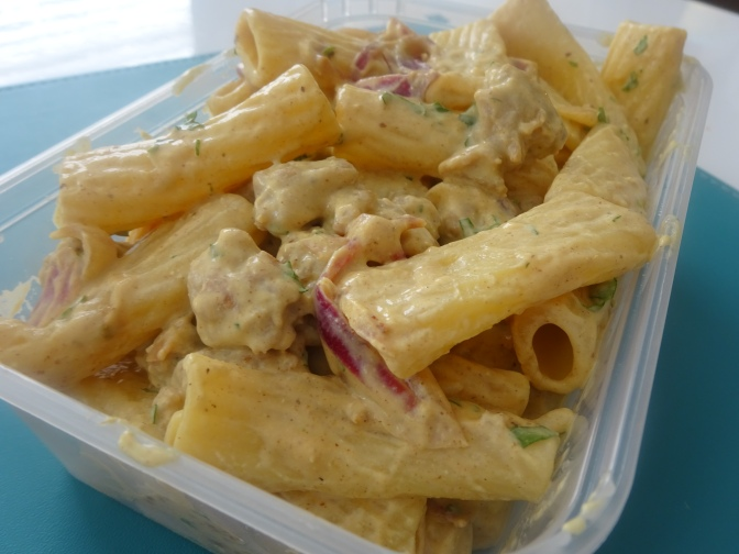 Sausage & Mustard lunch pasta